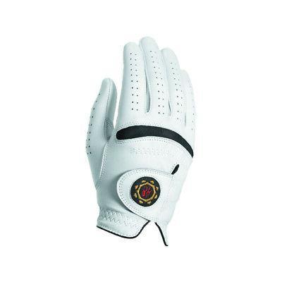 legend men s leather golf gloves white