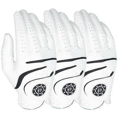 medallion men s golf gloves white 3