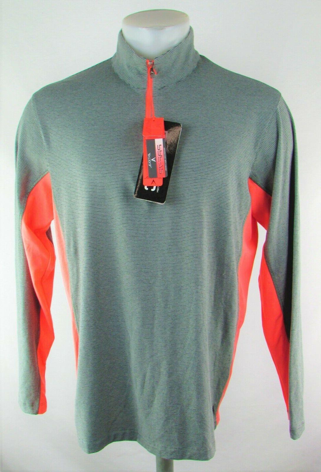 men s grey golf performance activewear top