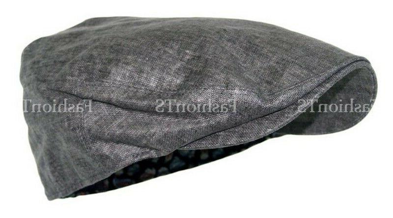 Men's Flat Newsboy Ivy Hat Summer Cabbie Fashion