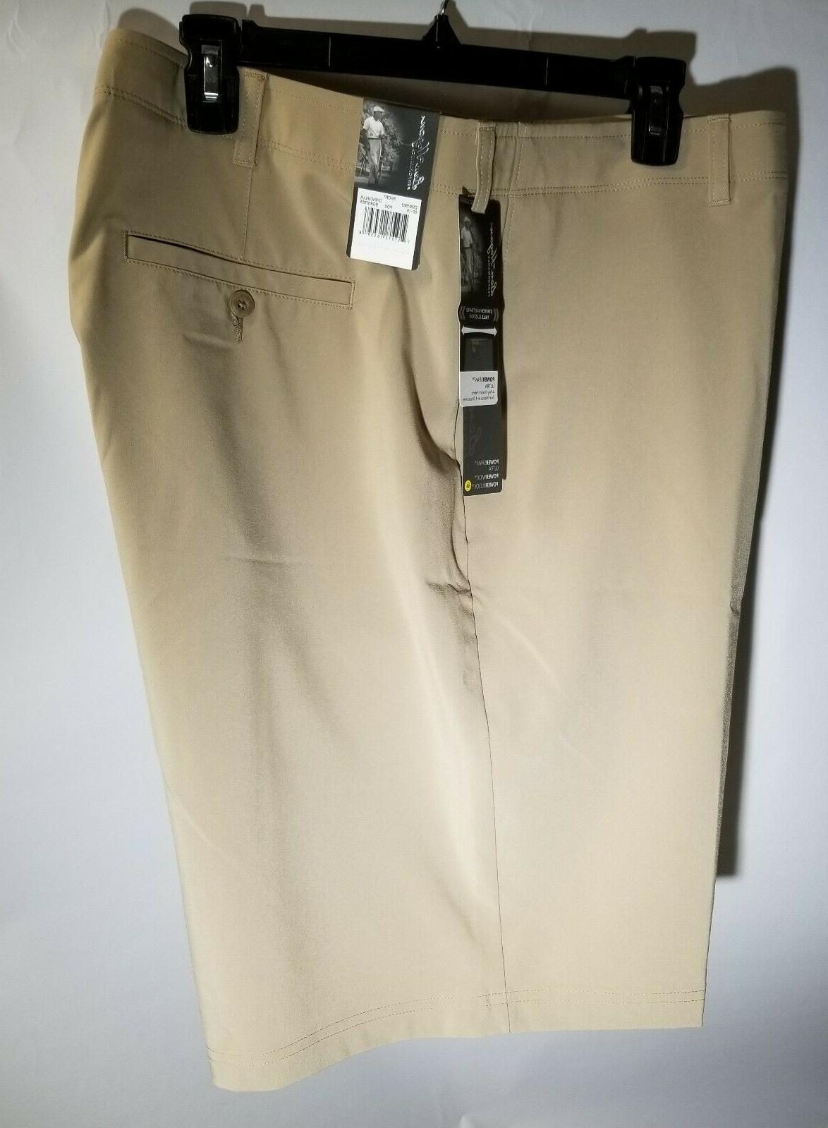 men s performance golf shorts beige size