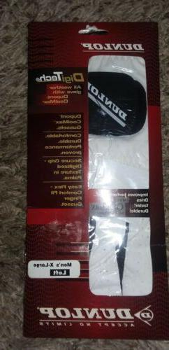 DUNLOP Mens DigiTech Leather GOLF Glove~Left~XL NEW! FREE S&