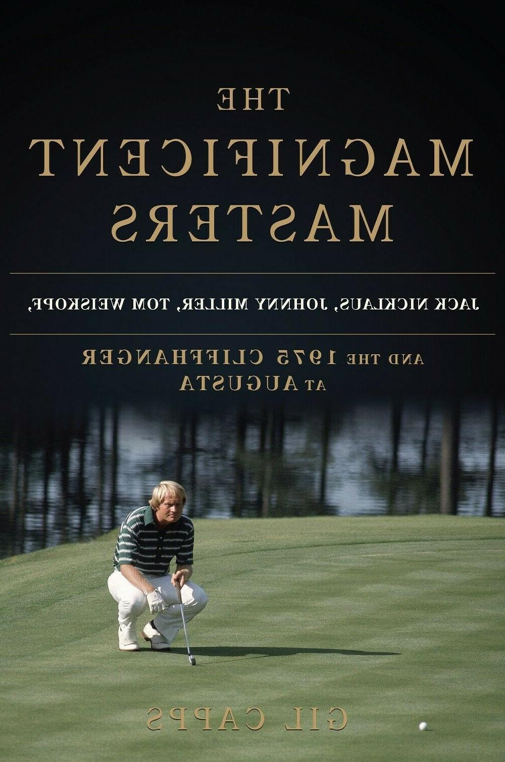 mint signed the magnificent masters golf book