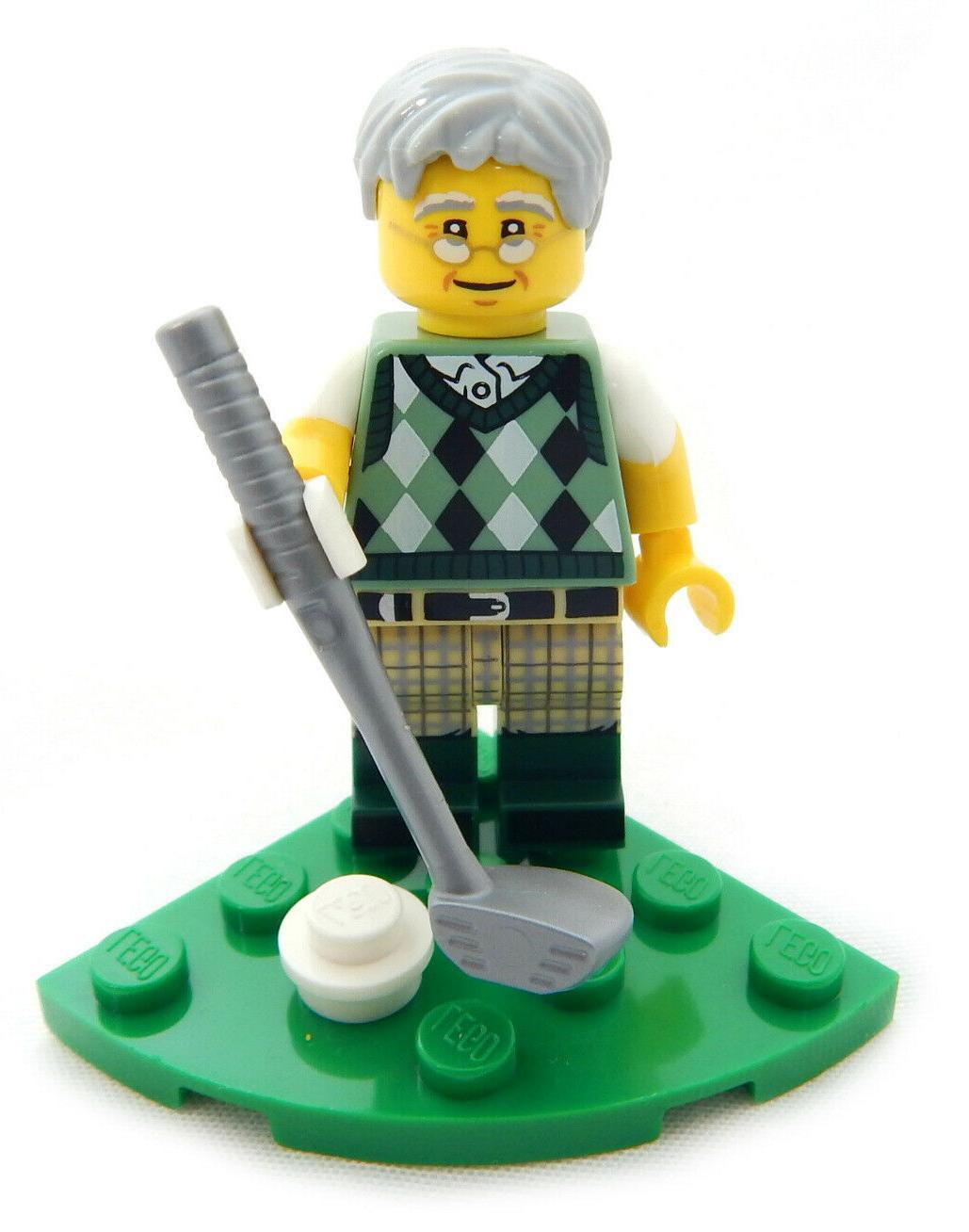 new golfing grandpa golf club minifig golf
