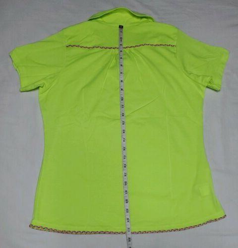NEW Antigua Women's Clever Desert Neon Green L