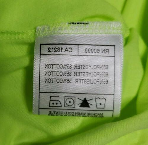 NEW Women's Clever Desert Polo Neon Yellow Green L
