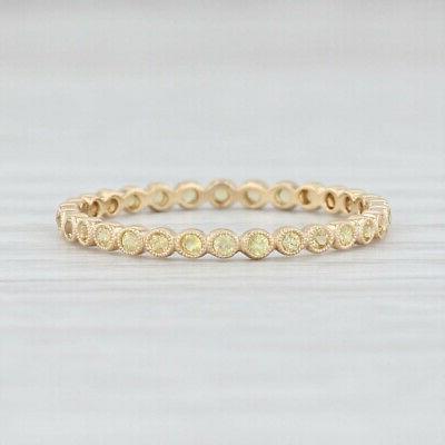 new yellow sapphire eternity band 14k gold