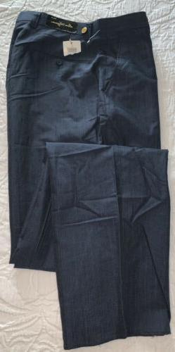 NWT BEN HOGAN Men's 34 Unhemmed Blue Golf Dress Pants Wool