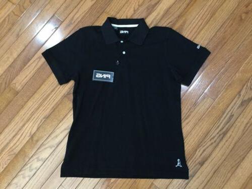 nwt womens black golf polo shirt top
