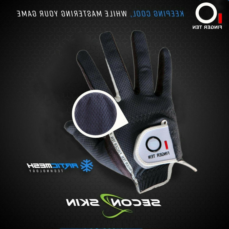 Men's 6 Gloves Left Hand Lh Rh Rain Wet Grip L M ML