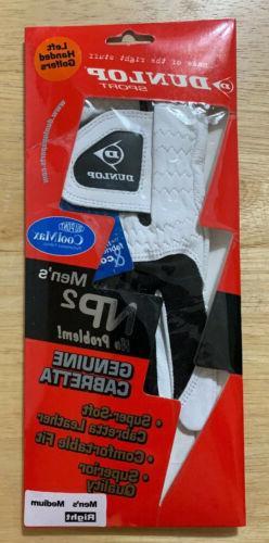 DUNLOP SPORT NP2 Leather Golf Glove - Men's Medium Right -