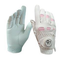 Ladies Golf Gloves Ball Marker Women Cabretta Leather Grip S