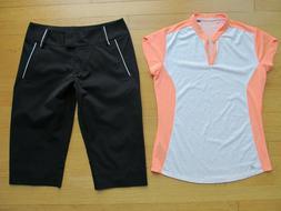 Ladies Adidas Golf  Two  Athletic Clothing, Top & Capri Wome