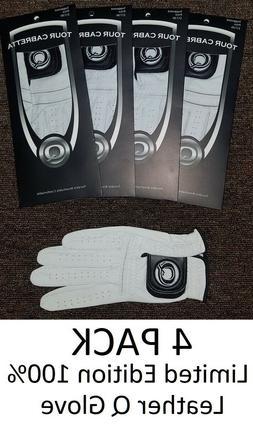 Leather Golf Glove New 4 Pack Genuine Cabretta Q Special All