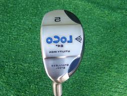 Dunlop Golf Loco 5 Hybrid 24 Degree Fused Hyper Steel Crazy