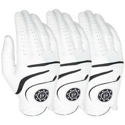 Ben Hogan Medallion Men's Golf Gloves - White - 3-PACK - Pic