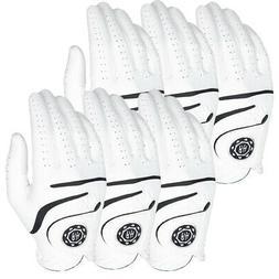 Ben Hogan Medallion Men's Golf Gloves - White - 6-PACK - Pic