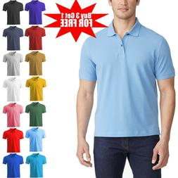 Men's Dri-Fit Causal Cotton Polo Shirt Jersey Short Sleeve S