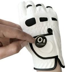 Men's Golf Gloves with Ball Marker Left Hand Lh for Right-Ha