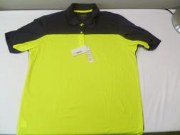 Men's Core 365 Golf Shirt, Safety Yellow/Carbon