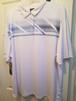 Men's Ben Hogan Golf shirt white with lt blue size 3 XL