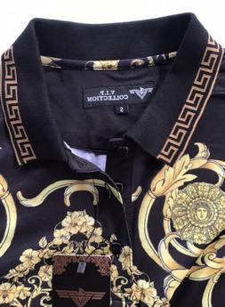 Men's Luxurious Polo Shirt,Italian Style,Modern, Stretch.