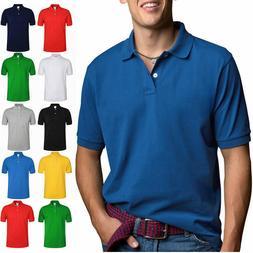 Men's Polo Shirt Dri-Fit Golf Sports Plain Cotton Jersey T S