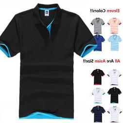 Men's Polo Shirt Golf Sports Cotton T Shirt Jersey Casual St