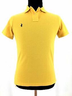 Polo Ralph Lauren Mens Custom Fit Short Sleeve Yellow Golf P