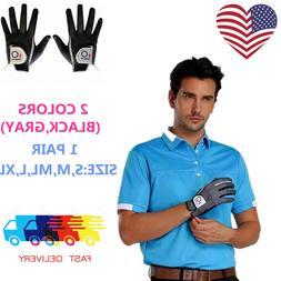 Mens Golf Gloves Pair Rain Grip Pr L Large XL Both Left Righ