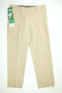 Mens Ben Hogan Performance Stretch Waistband Tan Golf Pants