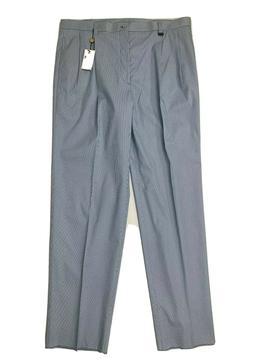 BEN HOGAN Men's Sz 40 Golf Dress Pants Blue & White Stripe