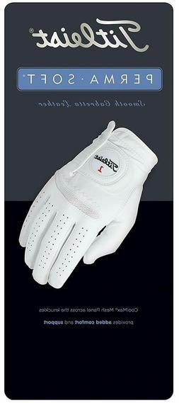 1 Titleist Perma-Soft Left-Hand Golf Glove Color Pearl Regul