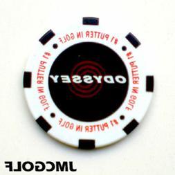 New  Odyssey Poker Chip Putter Golf Ball Marker White