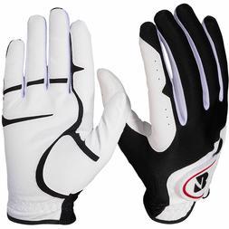 New 2 Pack Bridgestone Men's White EZ Fit Golf Gloves Choose