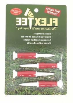 """New Flex Tee 3"""" Golf Tees 4 Pack Enhanced Driver Distance"""