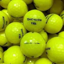 NEW Wilson Staff 50 / Fifty Elite Yellow Bulk Golf Balls - P