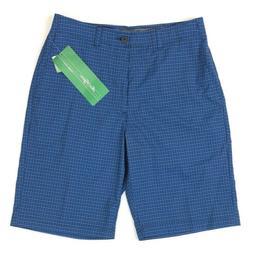 "NEW Ben Hogan Golf Shorts Men's 30"" Blue Check Belted Stretc"