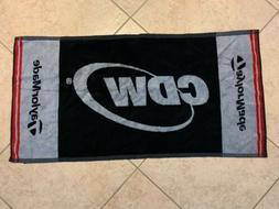 New TaylorMade Golf Towel CDW T Max Gear 37 X 19
