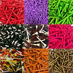 NEW Zero Friction Golf Wood Tees Choose Quantity, Color & Le