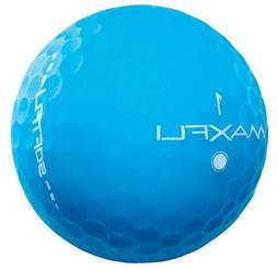 NEW MAXFLI SOFTFLI MATTE BLUE GOLF BALLS RETAIL BOX 2 DOZEN