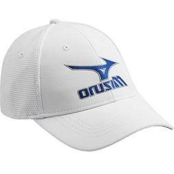 NEW Mizuno Tour Fitted White Fitted L/XL Men's Golf Hat/Cap