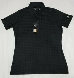 NEW Antigua Womens Gem Desert Dry Golf Polo Shirt Black Size