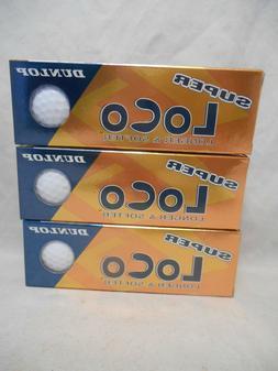 NIB Dunlop Super Loco Lot of 9 Golf Balls Super Crazy Long S