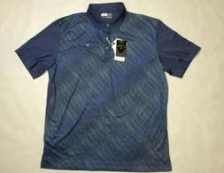 NWT Men's Callaway Golf Opti-Dri Polo Shirt Peacoat Blue SZ