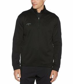 NWT Men's Callaway Golf Pullover 1/4 Zip Ottoman Tech BLACK