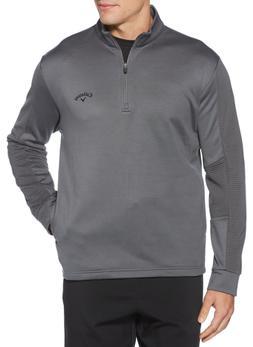 NWT Men's Callaway Golf Pullover 1/4 Zip Ottoman Tech GRAY M