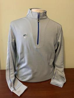 NWT Footjoy Men's Mid Layer Grey 1/4 Zip golf Pullover 25061