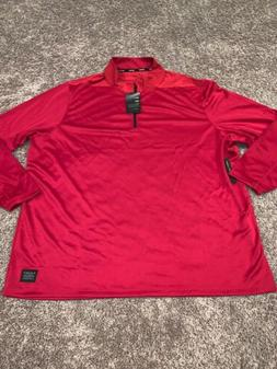 NWT Mens Nike Golf 3XL Red 1/4 Zip Dri-Fit Pullover. MSRP $6