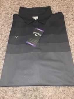 NWT Men's XXLarge Callaway Black OptiDri Polo Style Golf S